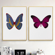 Modern Living Room Wall Art Paintings Retro Butterfly Building Decorative Pictures Prints On Canvas For Bedroom Pastoral Decor dazzle butterfly prints diamond paintings