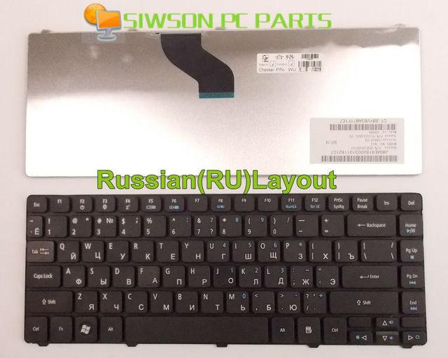Nuevo teclado del ordenador portátil versión rusa ru para acer aspire 4235 4240 4251 4251g 4253 4252 4752 4752G 4752Z 4752ZG 4336 4336g