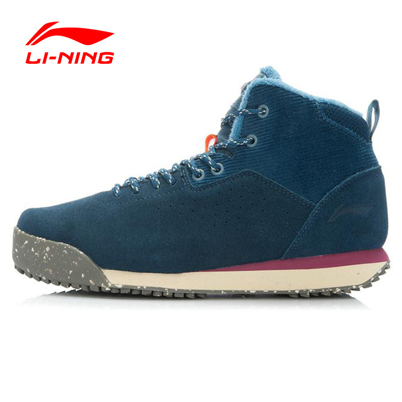 Li-Ning 2016 Winter Outdoor Walking Shoes Men Warm Plush Breathable Sneakers Sport Shoes Sapatilhas  ALAJ079 XMR1064 li ning outdoor sports life series wear resisting breathable young steady sport shoes sneakers walking shoes men alck021 xmr1052
