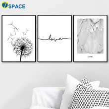 Dandelion Feather Love Quote Nordic Posters And Prints Wall Art Canvas Painting Decoration Pictures For Living Room Salon Decor