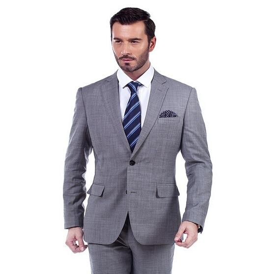Man grey suit formal business casual office suit man ...