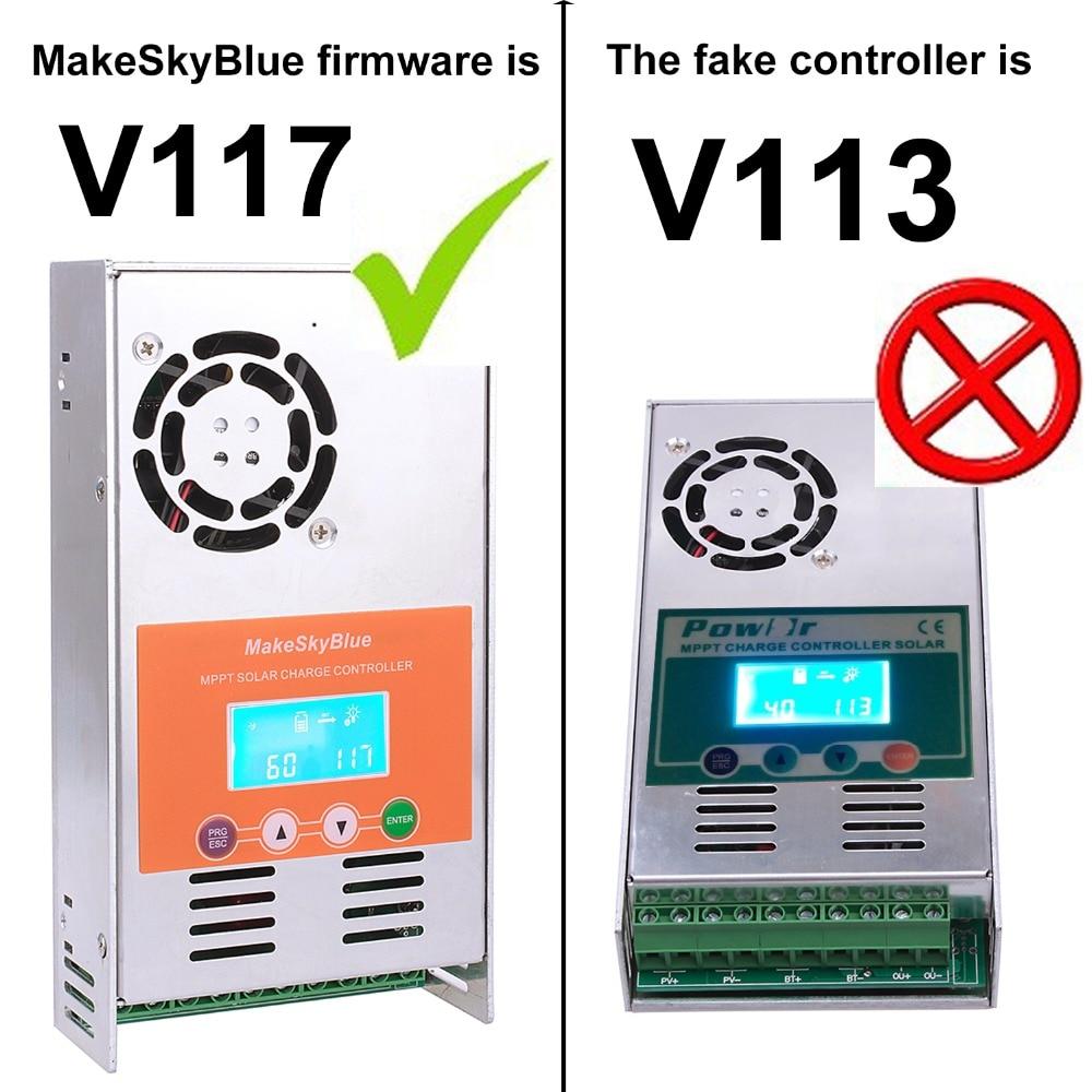 60A MPPT de Charge Solaire Contrôleur Avec Écran LCD Max PV 720 w 1440 w 2100 w 2800 w Panneau Solaire pour 12 v 24 v 36 v 48VDC Version V117