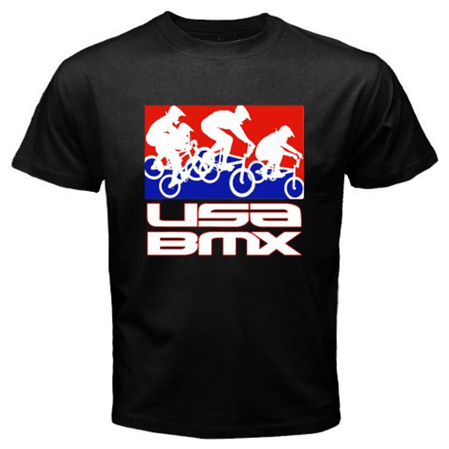 2018 Summer Tee shirt New USA BMX PRO BMX Fans Logo Sporter Bicycle Mens Black T-Shirt Size S to 3XL Custom T-shirt