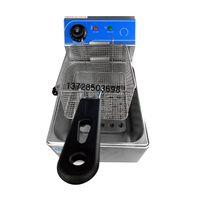 Одноцилиндровый электрическая фритюрница коммерческие жарки машины Desktop сковорода дома фри машина