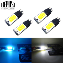 цена на 4pcs  W5W T10 LED 194 168 High Quality COB Interior Bulb Light Parking Backup Brake Lamps Cars Auto Led Bulb White ice blue