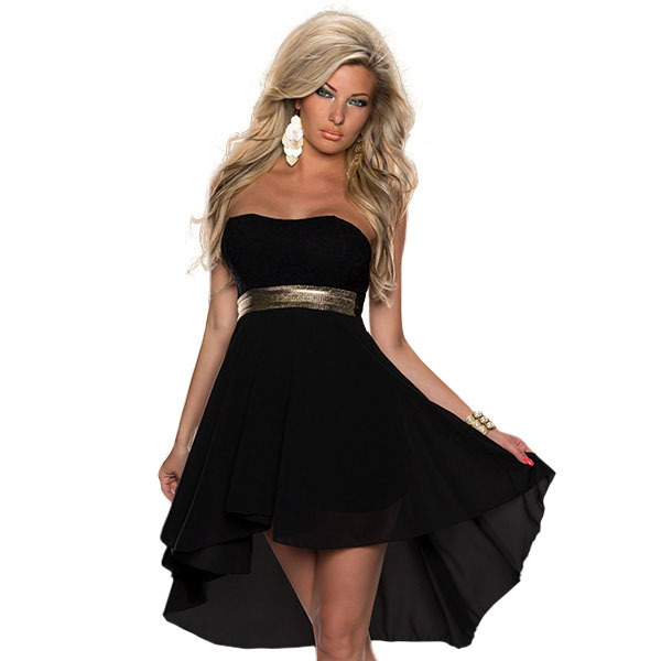 Aliexpress.com : Buy Summer Strapless Dress with Belt Free ...