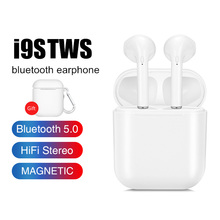 i9S TWS Bluetooth Earphones Wireless Headset Bluetooth 5.0 Stereo Sports Earbuds with Mic for Phone Andorid s7 tws wireless earphones earbuds wireless bluetooth earphones stereo headset bluetooth headphones with mic