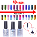 Promotional 48 Colors Thermal Change Gel Polish UV/LED Lamp 7.3ml Colored Temperature Polish Nail Chameleonic Color Coat