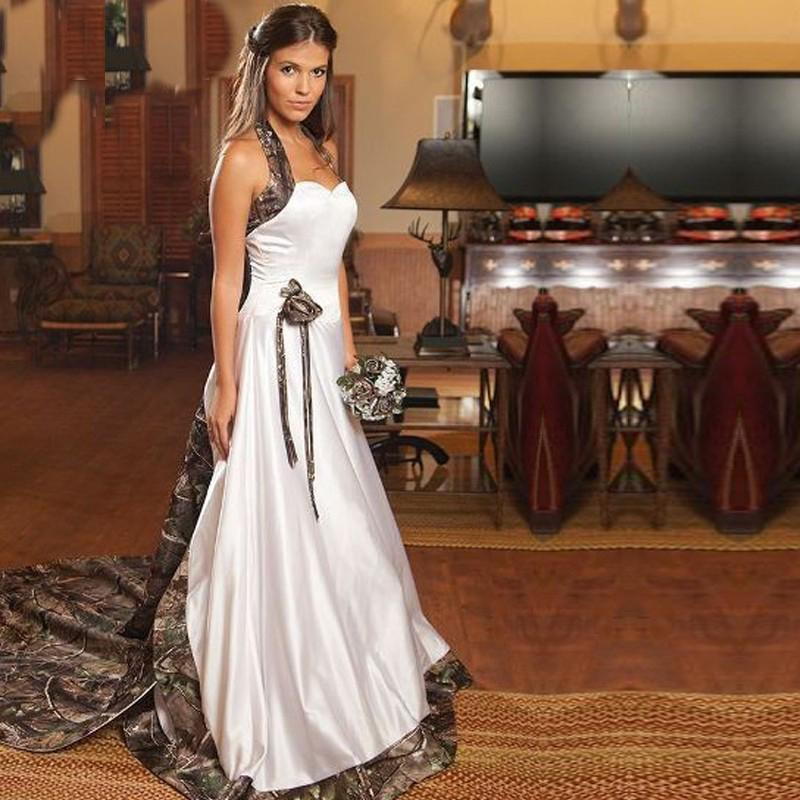 Aliexpress.com : Buy White Camouflage Wedding Dresses With Beaded ...