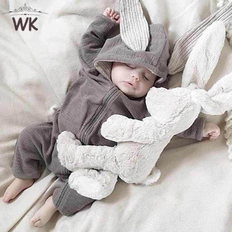 Winter Newborn Baby Clothes Bunny Baby Rompers Cotton Hoodie Newborn Girl jumpsuits Fashion Infant Costume Boys Outfits Jq-458