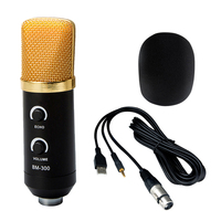 Negro 3.5mm Micrófono USB Micrófono de Estudio de Grabación Profesional con Montaje de Choque Accesorios de Instrumentos Musicales