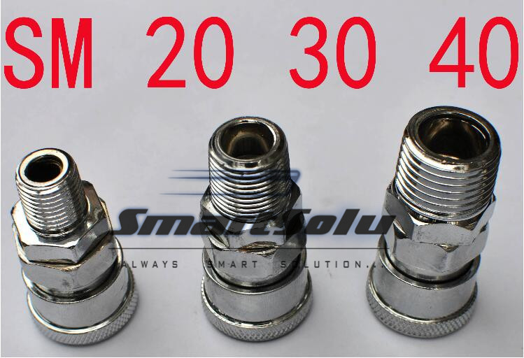 free shipping Air Compressor Pneumatic Quick Coupler Connector Socket Fittings Set SM-30 PM-30 For 6.5mm ID x 10mm OD Hose