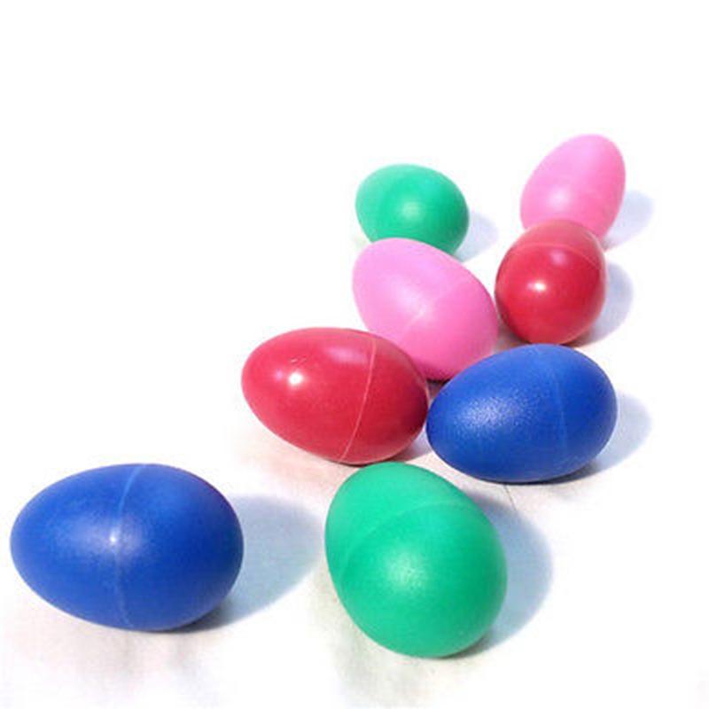 Musical Instruments 4 Colors Plastic Percussion Musical Egg Maracas Egg Shakers Child Kids Toys Fashionable Patterns