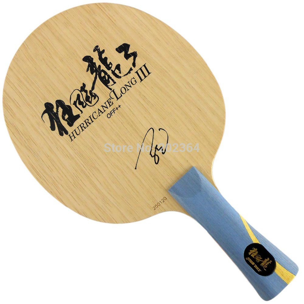DHS Hurricane Long III OFF++ Table Tennis Blade (Shakehand) for PingPong Racket