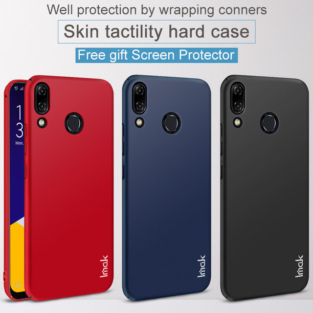the latest 56edd ff21a US $4.32 |Asus Zenfone 5 ZE620KL Case IMAK Jazz Slim Hard Plastic PC Cover  Case For Asus Zenfone 5Z ZS620KL Cases Gift Screen Protector-in Fitted ...