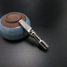Титан мундштук для сигарет табака Ash фильтрации многоразовые деформации элемент