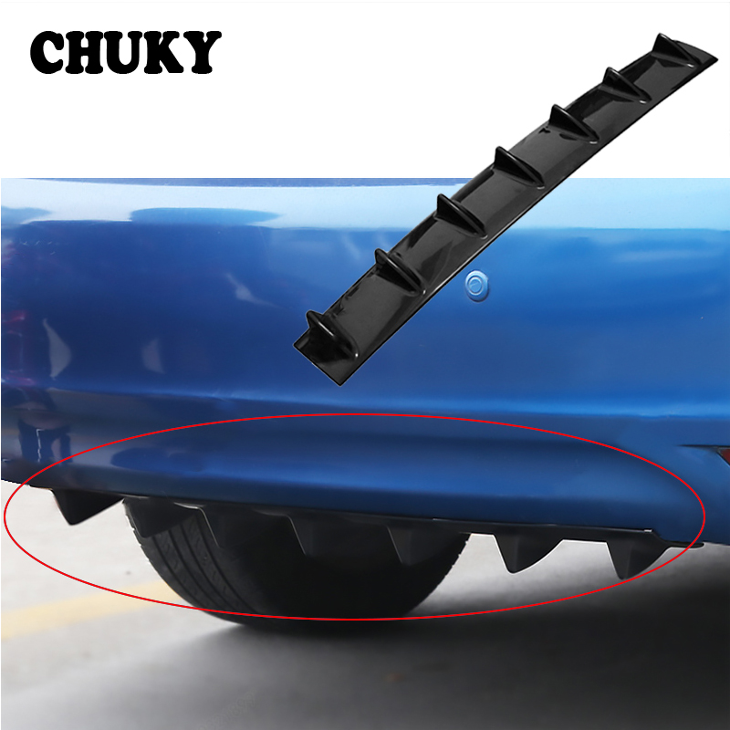 CHUKY Car Rear <font><b>Bumper</b></font> Chassis Shark Fin 7 Wings Deflector Modified Spoiler For <font><b>BMW</b></font> E36 F30 F10 <font><b>E30</b></font> M X5 Ssangyong Volvo XC90 V70 image