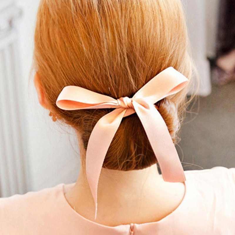 Модные женские аксессуары для волос Новые кудри булочки головная повязка для укладки волос Волшебные волосы Шелковый галстук-бабочка