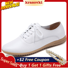 Krasovki Single Shoes Women Spring Autumn Flat Bottom Breathable Dropshipping Small White Soft Slip Casual