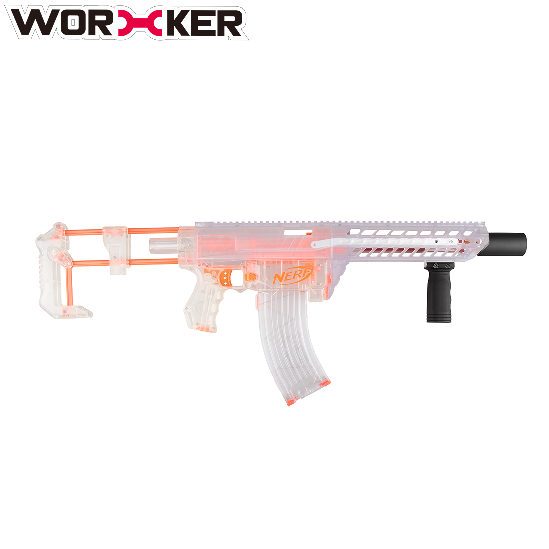 Worker Modified Toy Accessories Integrated Built-in Front Pull-down Kit for Nerf Retaliator - Transparent цена и фото