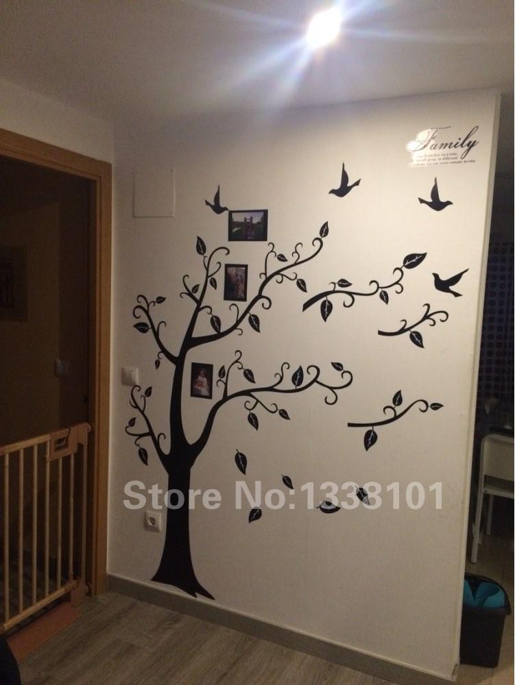 HTB1nTj0KXXXXXc7XpXXq6xXFXXXe - Free Shipping:Large 200*250Cm/79*99in Black 3D DIY Photo Tree PVC Wall Decals/Adhesive Family Wall Stickers Mural Art Home Decor