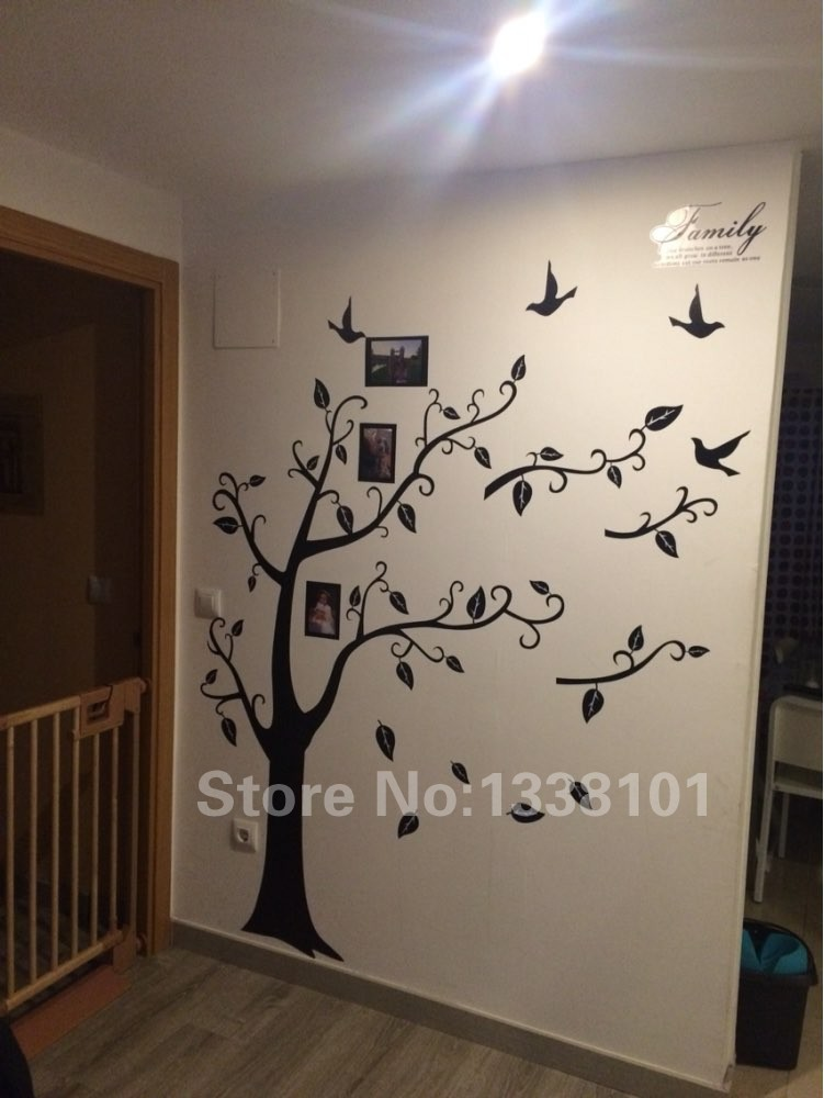 DIY Photo Tree PVC Wall Decals / Adhesive Family Wall Stickers 9