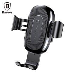 Baseus 제나라 무선 빠른 충전기 중력 자동차 마운트 홀더 10 와트 실리콘 전화 홀더 4.0-6.5 인치 조정