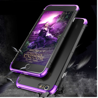 Super Luxury For IPhone 6 6s Plus Case 360 Full Protection 3in1 Aluminum Metal PC Hard