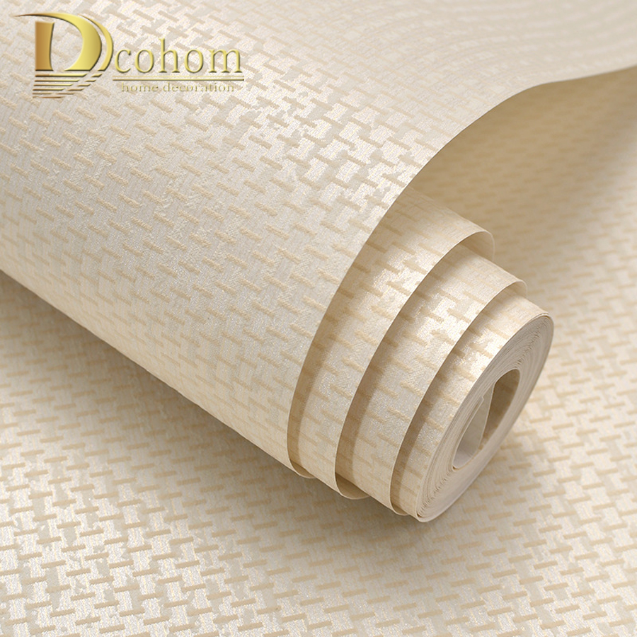 Simple Cozy Solid Color Modern Textured Wallpaper For Walls Bedroom Living Room Background Decor Non Woven Wall Paper Rolls