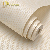 Simple Cozy Solid Color Modern Textured Wallpaper For Walls Bedroom Living Room Background Decor Non Woven