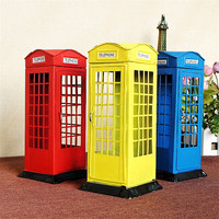 Vintage Telephone Tin Box Money Box Large Piggy Bank Coins Money Bank Metal Craft Cofre For