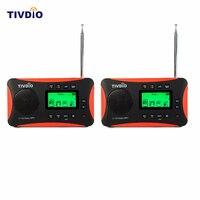 2pcs TIVDIO Portable Radio FM MW SW Multiband Radio Receiver MP3 Player With Sleep Timer Alarm