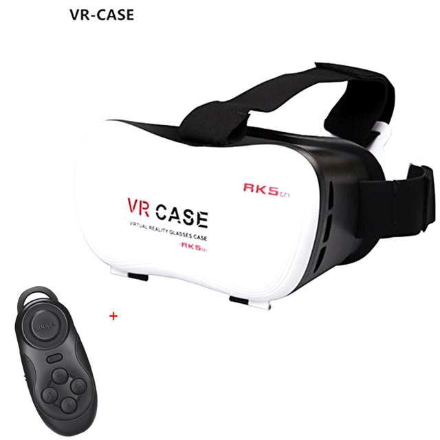 VR box 3D Glasses Focal and Pupil Distance Adjustable Virtual Reality Headset Video Game Glasses with bluetooth remote control