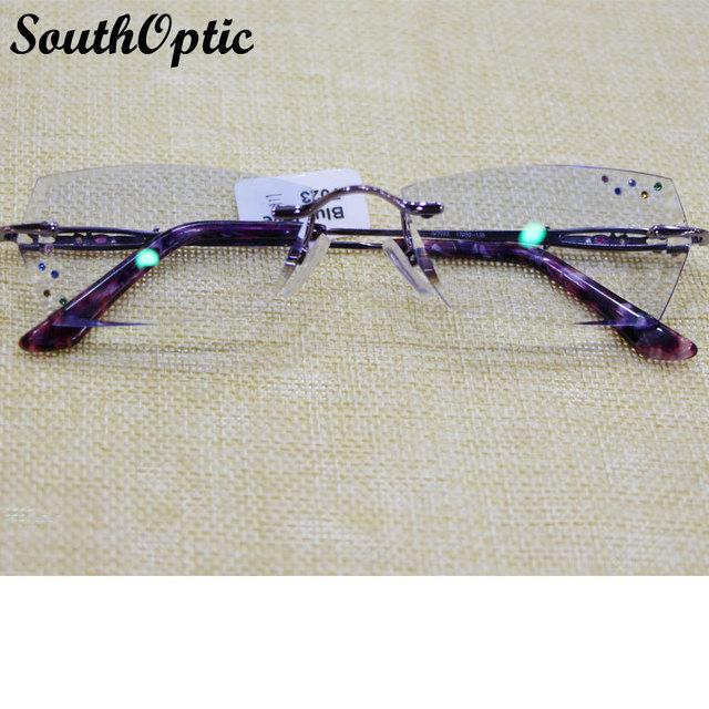 Óculos de armação de titânio mulheres marcas óculos óptica quadro feminino as mulheres , incluindo 1.61 Asphereic Tinted HMC EMI lentes UV400 7023