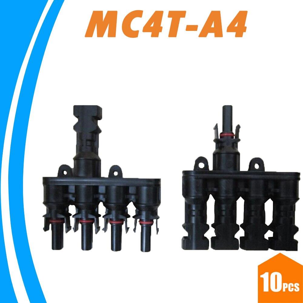 Y Type 4 branche f/&m panneau solaire PV Connecteur Fil de Câble 30 A 1000 V 1 paire pour MC4