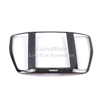 Aksesoris Stainless Steel untuk Volvo XC60 2018 Mobil Interior Konsol Tengah Tampilan Navigasi Cover Frame Molding Panel Trim