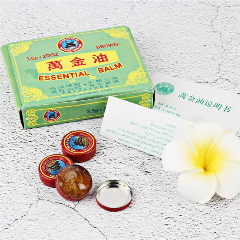 5 uds aceite de refrigeración de verano chino Tigre bálsamo rojo refrescarse tratamiento de la gripe fría dolor de cabeza relajante aceite esencial