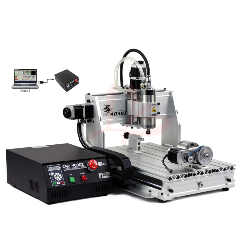 CNC milling machine 4030 Z-800W USB CNC router with 4axis for 3D wood article working no tax to eu 220v cnc wood carving machine 4030 z 800w usb cnc router with 4axis for 3d article working