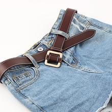 Luxury Brand Designer Belt For Women Made of Genuine Leather Female Vintage Metal Buckle Waist Dress Decorat for