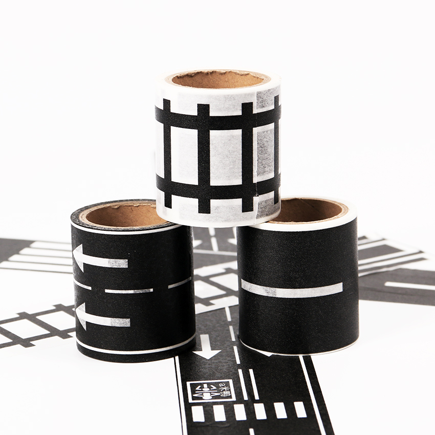 Купить с кэшбэком 1PC/5m Railway Road Wide Paper Tapes New Creative Traffic Road Decorative Washi Tape As Stickers for Scrapbooking Masking Tape
