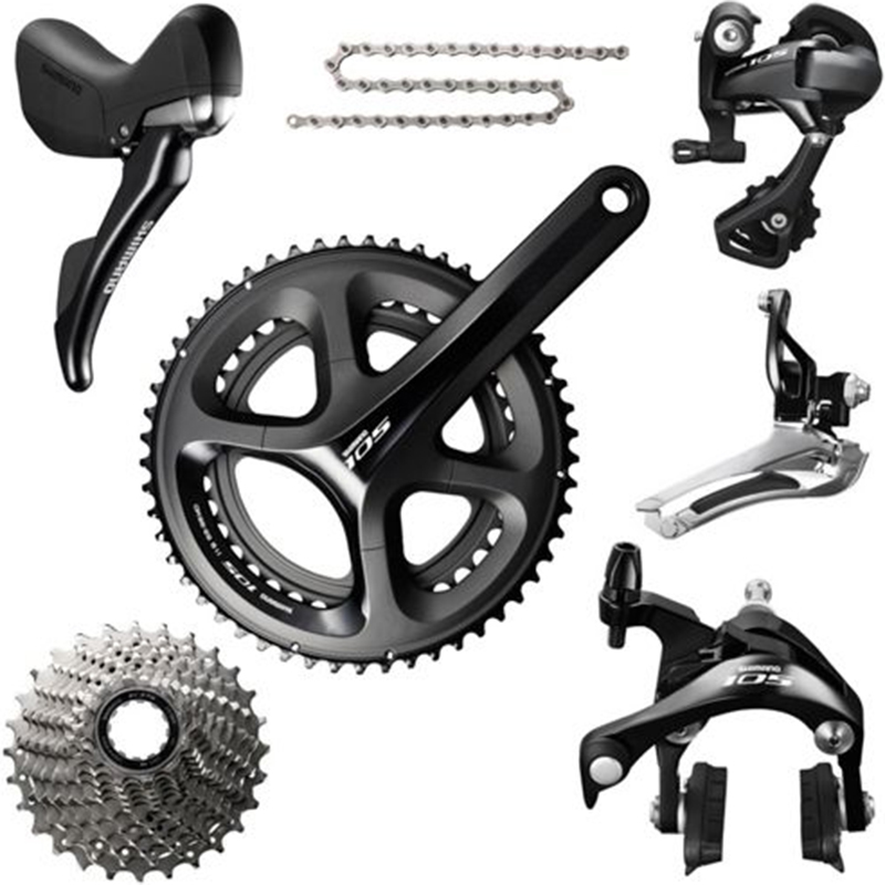 Shimano 105 5800 Groupset 2X11S 22S Crankset 50/34 53/39 170mm /172.5mm for road bicycle цены