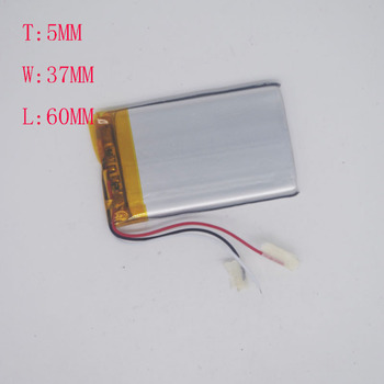3.7 V Polymer Lithium Battery 3 Line 503760/503560 Story Machine Beauty Heath Instrument 1200 mAh image