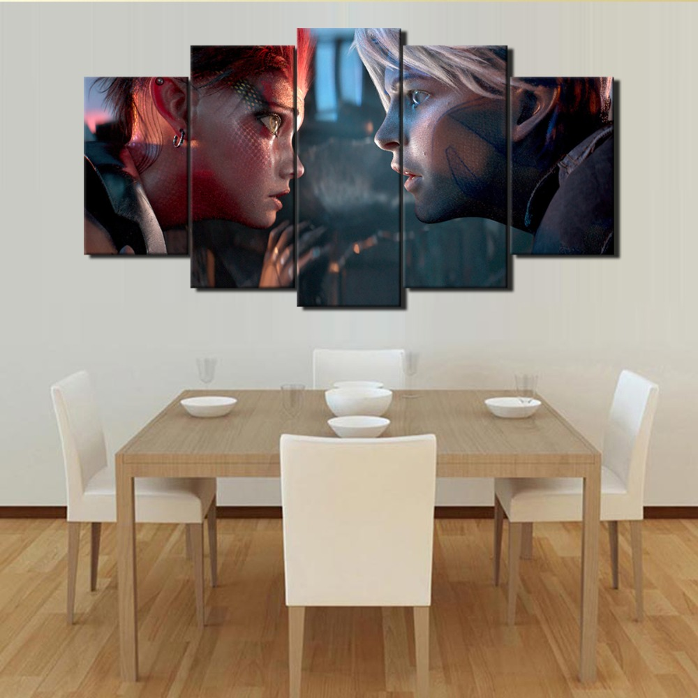 5 Panel Ready Player One Canvas Printed Painting 2018 Back To The Future Movie Film Hot New Art Poster