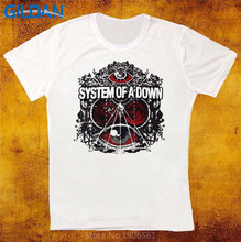 Summer Novelty Cartoon T Shirt  MenS Graphic Crew Neck Short-Sleeve System Of A Down Shirts