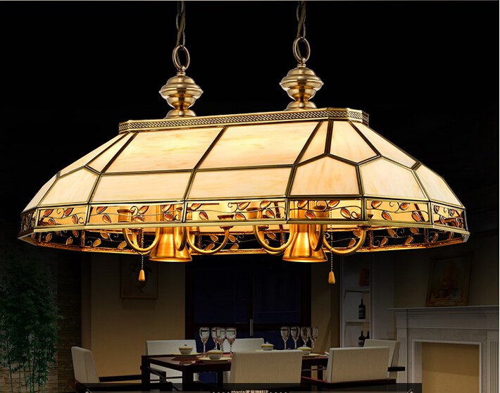 Free Shipping Brass Candle Chandelier AC90-260V 10 Arms Lamps Glass Lampshade Copper Material Chandelier Living Room Chandelier