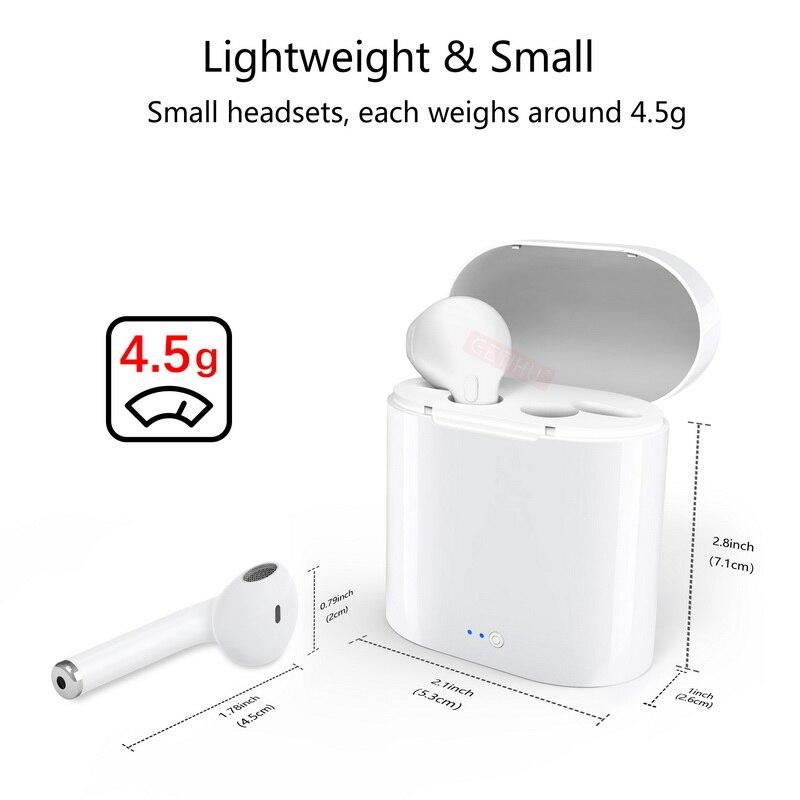 For Apple iPhone X 8 7 6 6s Plus Mini Twins Bluetooth Earphone Stereo headphones Wireless Earphones Sport in Ear Earbuds Headset