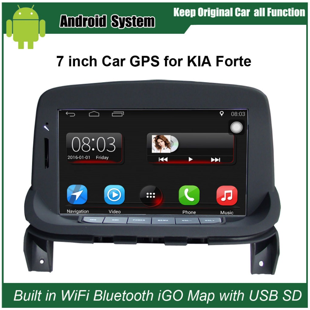 upgraded original car radio player suit to kia forte car video player built in wifi gps. Black Bedroom Furniture Sets. Home Design Ideas