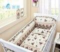 Promoção! 6 PCS berço cama kit 100% algodão berço 100% algodão cama de bebê em torno, Incluem ( bumper + folha + travesseiro )