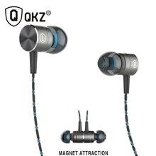 QKZ X41M Magnetic Earphones HIFI Fever in ear Earphone Transient HeadSet Heavy low quality earbuds Virulent