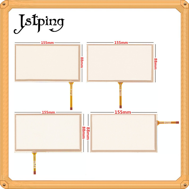 Jstping 5pcs 6.2 Inch Four Wire 4pins Resistance Touch Screen HSD062IDW1 155*88mm 155mm*88mm Digitizer External Panel Glass